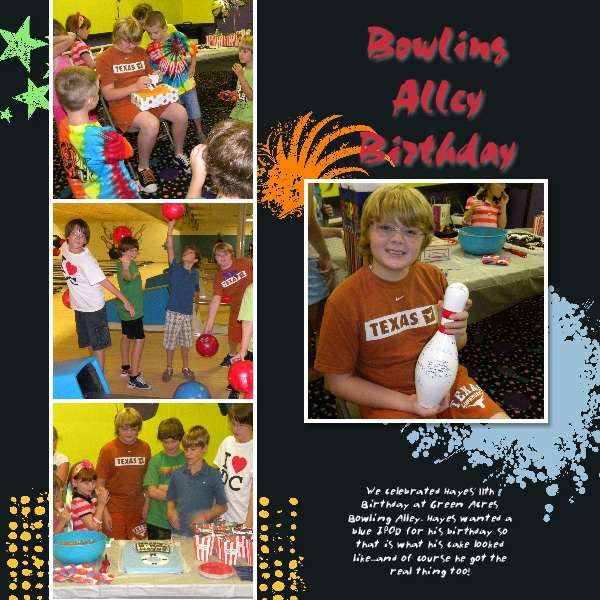 Bowling Alley Birthday