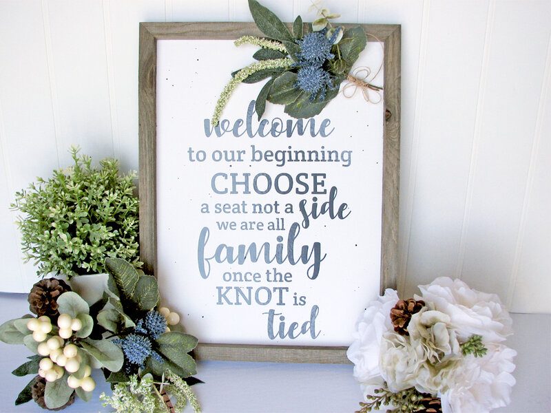 DIY Wedding Sign * Jillibean Soup*