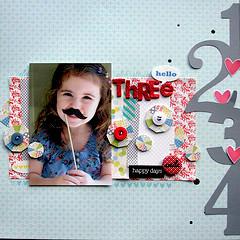 Hello Three *Lily Bee Design*