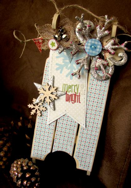 Altered Wooden sleigh *Lily Bee Design*