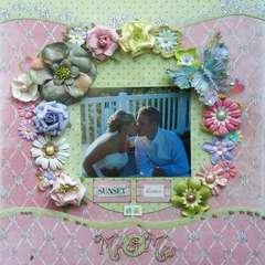 Sunset kisses as Mr & Mrs