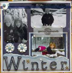 WINTER MAGIC    left hand page of two page layout