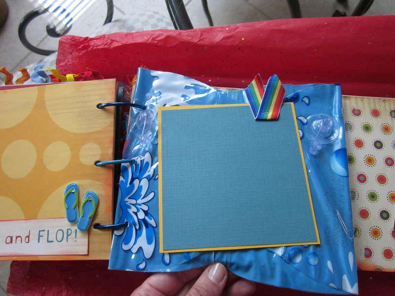 My summer chipboard album