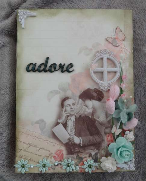 Adore (altered journal) Pion Design papers