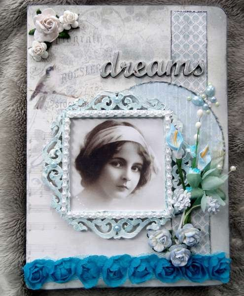 Dreams (altered journal) Pion Design Papers