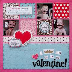 I mustache you to be my valentine!  **My Creative Scrapbook**