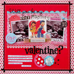 Will you be my valentine?  **My Creative Scrapbook**