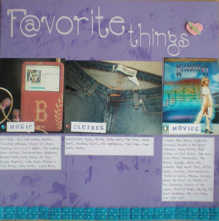 Favorites Page 2 CloseUp