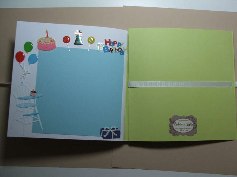 Welcome baby boy scrapbook