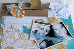 Making Memories Just Chillin' Clipboard {Close up}