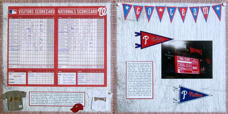 Washington DC 2012 - Pages 42-43 - Nationals/Phillies Baseball Game (pages 4-5)