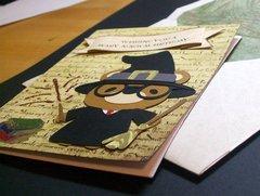Harry Potter birthday card and Hogwarts letter envelope
