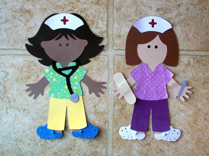 Nurse paper dolls
