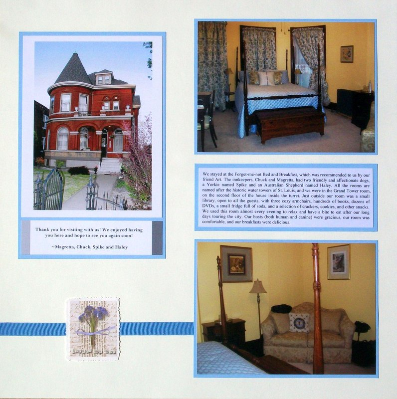 St. Louis 2013 - Bed and Breakfast, page 1