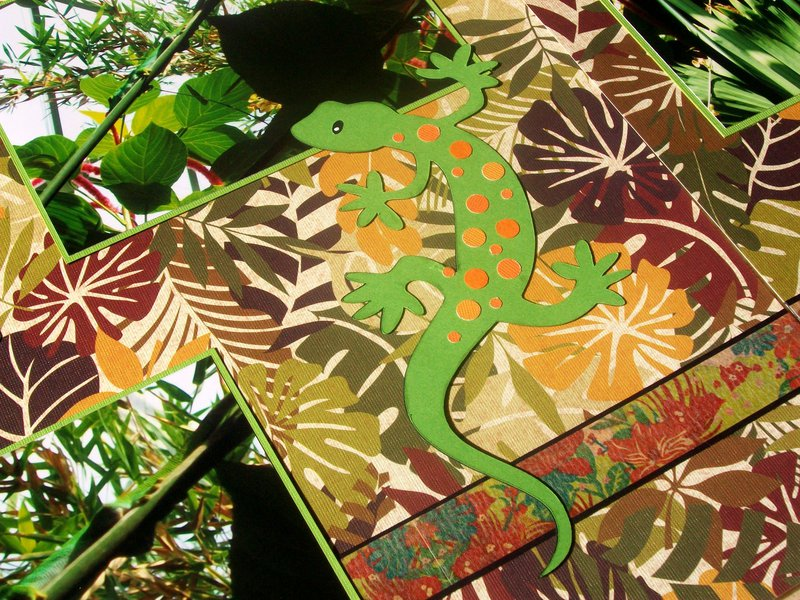 St. Louis 2013 - detail of gecko die-cut