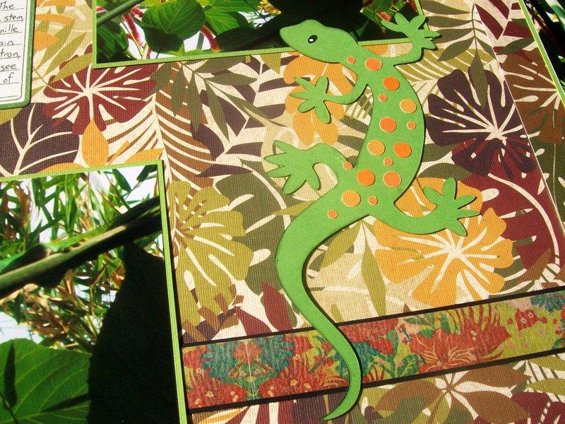 St. Louis 2013 - detail of gecko die-cut