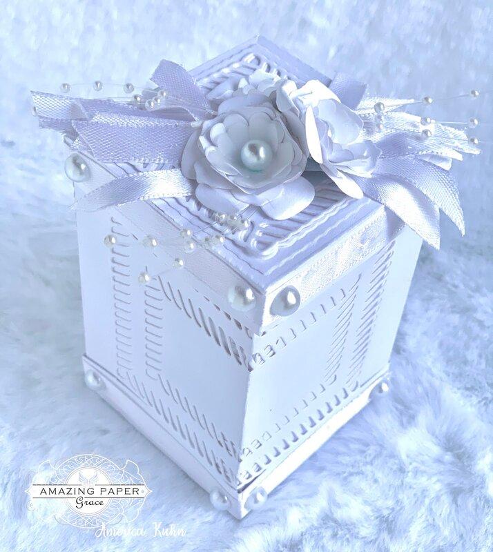 White Wedding Favor Box