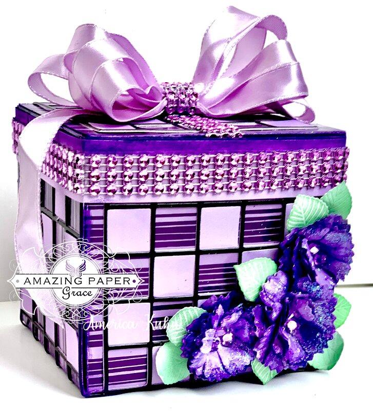 Purple Sparkling Gift-Box