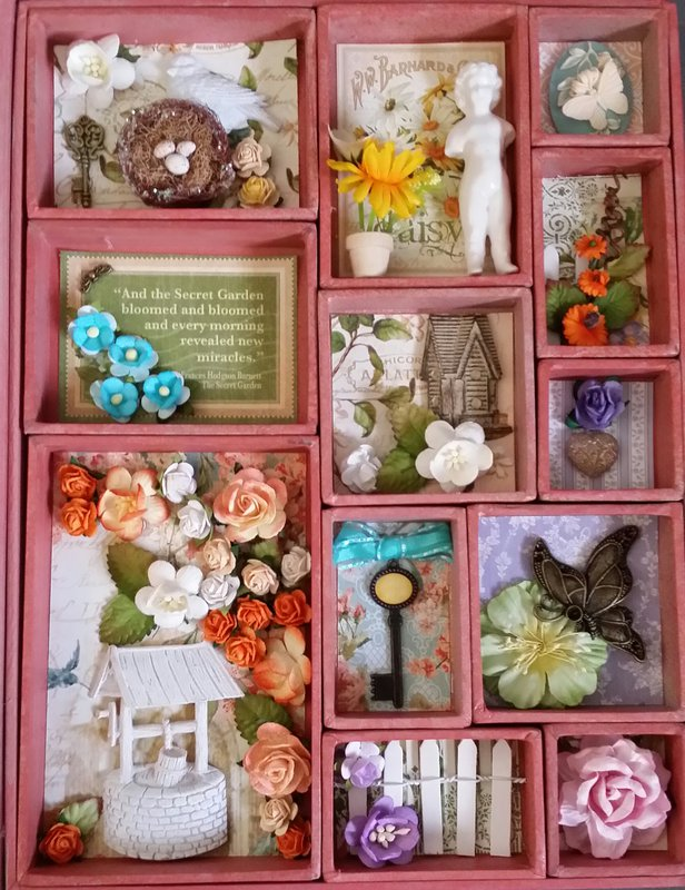 Secret Garden inside Tim Holtz book box