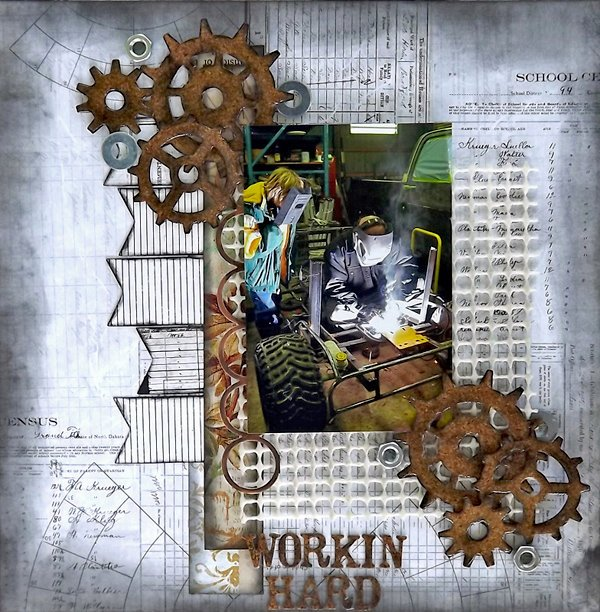 ***ScrapThat July kit***Laura Gilhuly - Workin Hard
