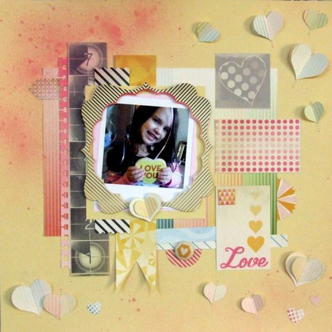 Love You Scrapbook Layout