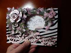Velvelt Zebra Print & Lt Pink-Just For You Card