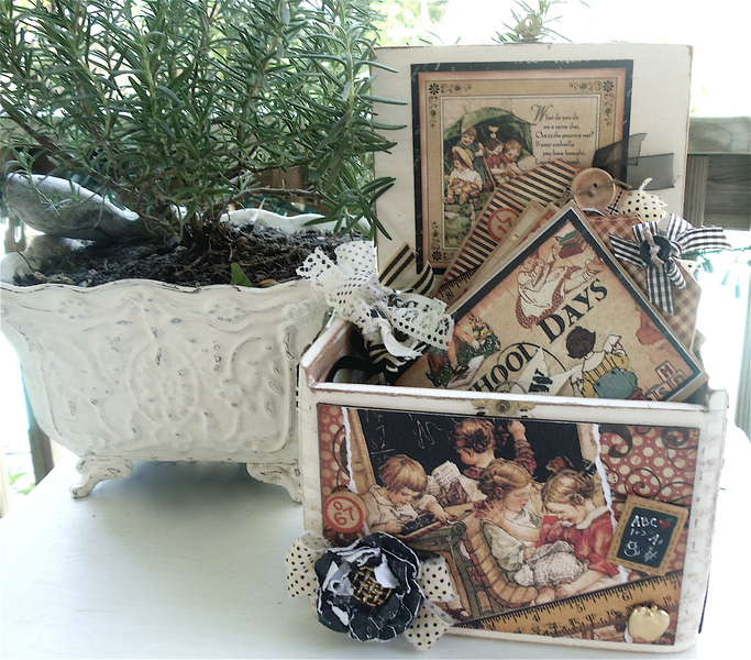 altered cigar box and mini for swap