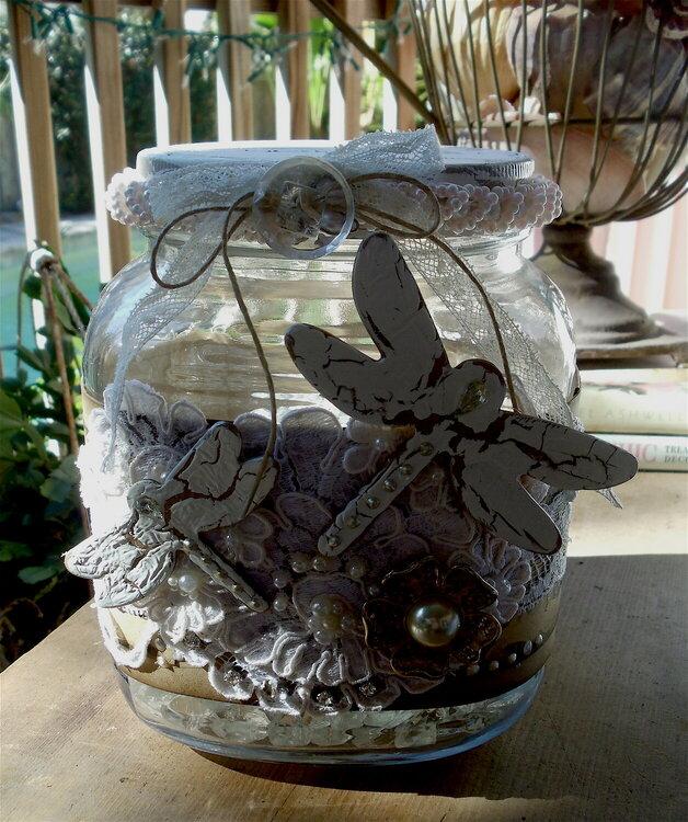 Altered  vintage jar