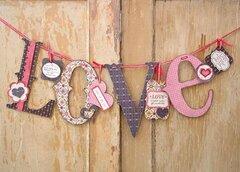 Love wood banner