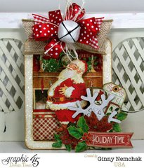 Christmas Shadowbox Ornament with Graphic 45 Twas the Night Before Christmas