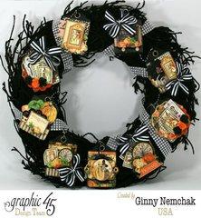 An Eerie Tale ATC Tag Halloween Wreath