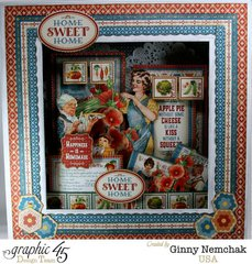 Home Sweet Home Matchbook Box Shadow Box with Graphic 45
