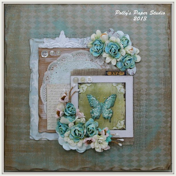 Vintage Butterfly Layout