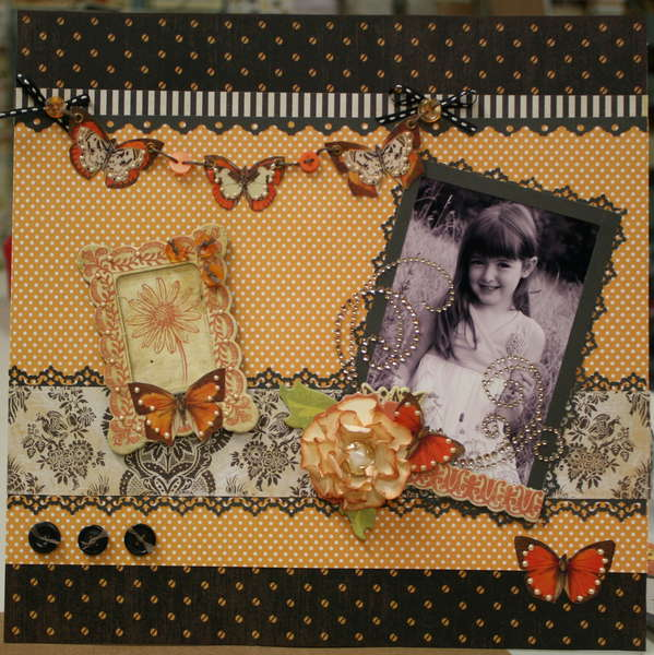 Layout with Butterfly Banner