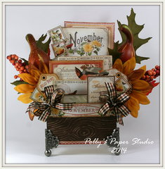 Fall Centerpiece with Graphic 45 Time to Flourish