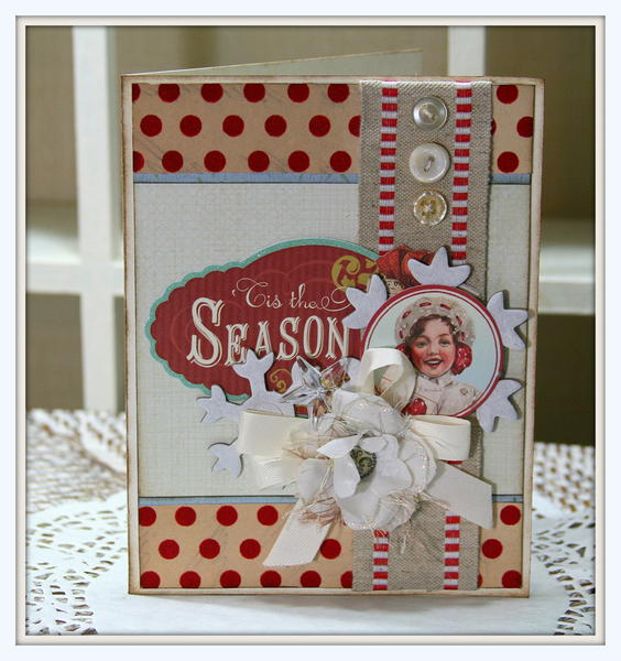 Retro Christmas Season Card