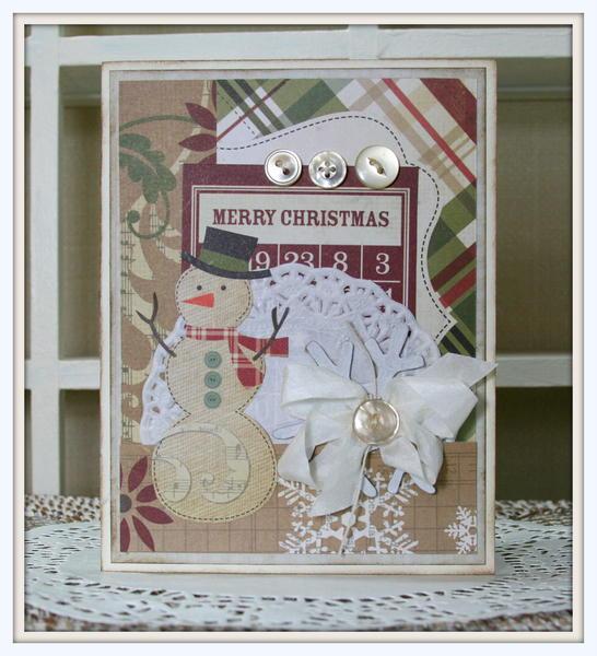 Merry Snowman Card