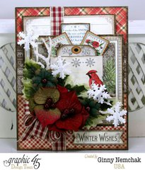 Time to Flourish Christmas Card with Graphic 45