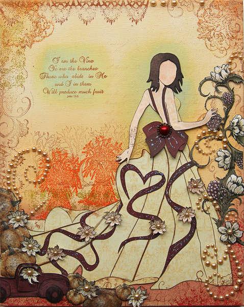 Mixed Media Canvas {DT work for Heartfelt Creations}