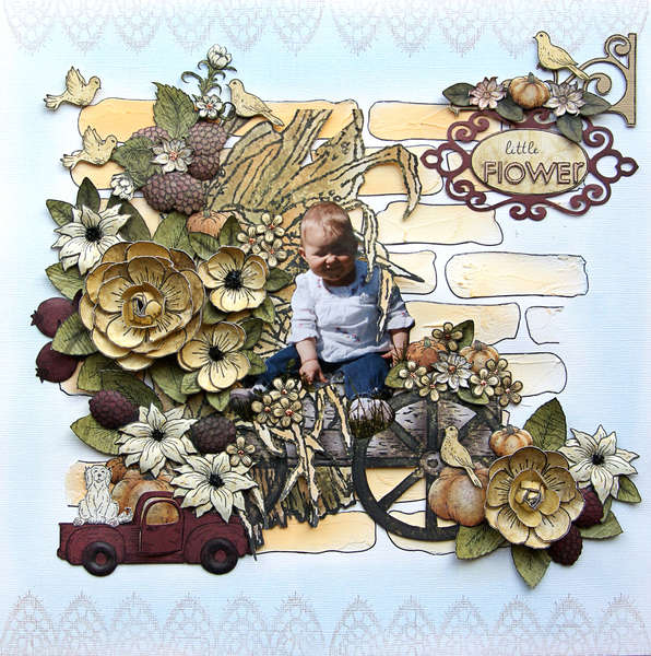 Little Flower {DT work for Heartfelt Creations}