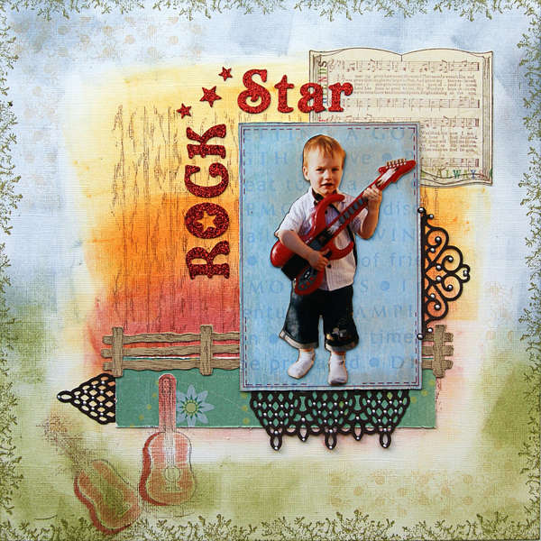Rock Star {DT work for Heartfelt Creations}