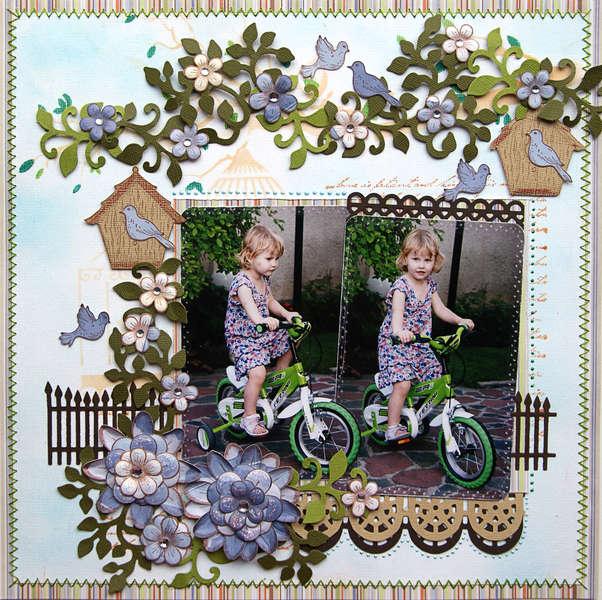 Riding my Bike {DT work for Heartfelt Creations}