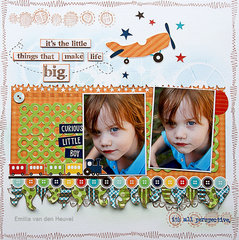 It's the Little Things... {DT work for Scrapbook Challenges}