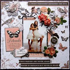 Sweet Friendship {Kaisercraft & Merly Impressions}