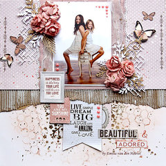 Beautiful & Adored {Merly Impressions & Kaisercraft}