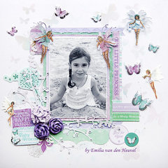 Our Little Fairy {Kaisercraft & Merly Impressions}