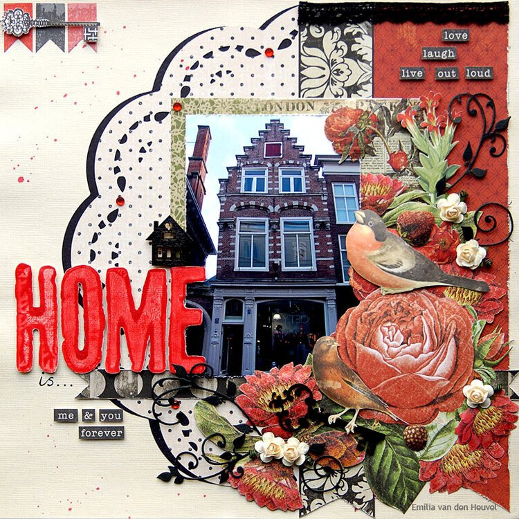 Home is... {Merly Impressions & Kaisercraft}