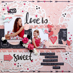 Love is Sweet {Kaisercraft & Merly Impressions}