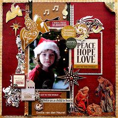 Peace, Hope, Love {Kaisercraft & Merly Impressions}