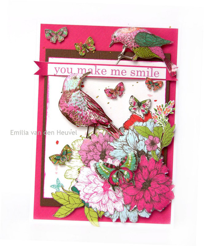 Cards with Fly Free {Kaisercraft & Merly Impressions}